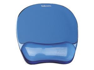 Fellowes 91141 Blue Crystal Msepad/Wrist Rest