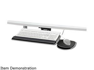 Fellowes 93841 Adjustable Keyboard Platform, 20-1/4 x 11-1/8, Black/Gray