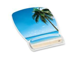 3M Beach Design Gel Mouse Pad Wrist Rest