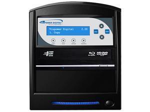 VINPOWER Black 1 to 1 64M Buffer Memory SharkBlu BDXL / Blu-Ray / DVD / CD Disc Duplicator + USB 3.0 + 500GB HDD Model SharkBlu-S1T-XL-BK