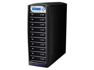 VINPOWER Black 1 to 10 128M Buffer Memory SharkBlu BDXL / Blu-Ray / DVD / CD Disc Duplicator + USB 3.0 + 500GB HDD Model SharkBlu-S10T-XL-BK