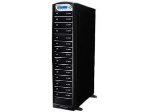 VINPOWER Black 1 to 15 256M Buffer Memory SharkBlu Daisy Chain Blu-ray DVD CD Duplicator Tower with 500GB Hard Drive Model SharkBlu-S15T-DC-BK