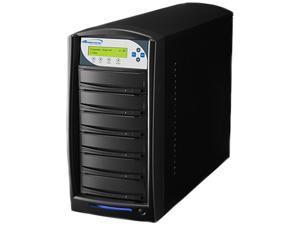 VINPOWER Black 1 to 5 128M Buffer Memory SharkNet DVD CD Network Duplicator Tower with 320GB Hard Drive Model SharkNet-5T-DVD-BK