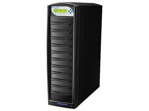 VINPOWER Black 1 to 10 128M Buffer Memory SharkCopier DVD/CD Tower Duplicator with 320GB Hard Drive Model SHARK-S10T-BK