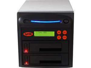 "Systor Black 1 to 1 SATA 2.5""&3.5"" Dual Port/Hot Swap Hard Disk Drive(HDD/SSD)Duplicator/Sanitizer- High Speed-150MB/sModel SYS201HS-DP"