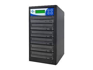 EZ Dupe 1 to 5 CD/DVD Duplicator Ext LG Drives LightScribe Support Model LSLGNB5