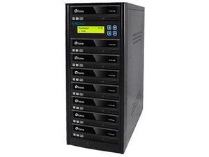 PlexCopier 1 to 7 Econ Series SATA DVD/CD Tower Duplicator Model PLEX-S7T-DVD-BK