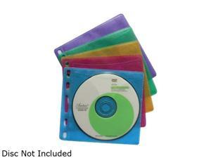 inland 2859 U-Store CD/DVD sleeves color 100 set