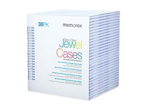 Memorex 01931 30-pack Clear Slim CD Jewel Case