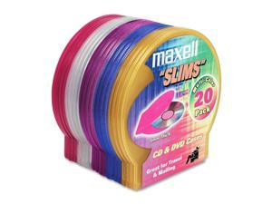 maxell 190073 Slim 5mm C-Shell Cases - 20PK - Assorted Colors