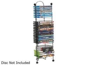 Atlantic 63712046 Nestable 32 DVD Or Bluray Tower In Gunmetal