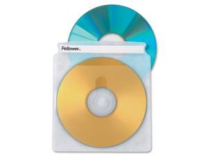Fellowes 90659 50PK CD Sleeves Clear Vinyl Double Sided - 100 CDs Capacity