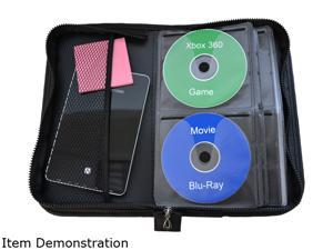 TekNmotion TM-CD64B1 64 CD/DVD Black on Black Carry Case