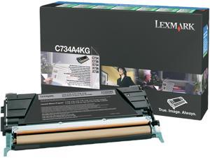 Lexmark C734A4KG Return Program Toner Cartridge, Black - OEM