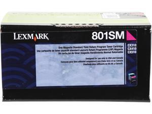 LEXMARK 801SM (80C1SM0)&#59; Return Program Standard Yield Return Program Toner Cartridge Magenta