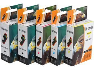 Green Project L-100XL(5pk) Black high yield 100XL Ink Cartridge Replaces Lexmark - 2pc. Lexmark 14N1092