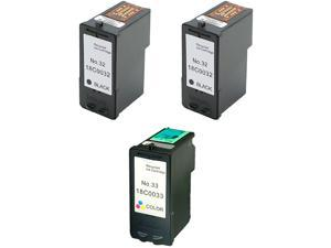 Green Project L-32/33(3pk) Black Ink Cartridge Replaces Lexmark