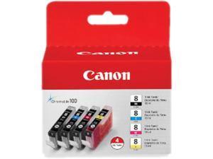 Canon CLI-8 4-Pack Color Ink Cartridge&#59; 1 Black, 1 Cyan, 1 Magenta, 1 Yellow (0620B010)