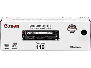 Canon 118 (2662B001) Toner Cartridge, 3,400 Page Yield&#59; Black