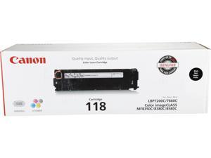 Canon 118 (2662B001) Toner Cartridge, 3,400 Page Yield&#59; Black