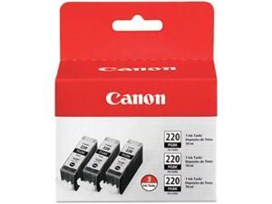 Canon PGI-220 PGBK 3-pack Black Ink Cartridge&#59; 3 Black (2945B004)
