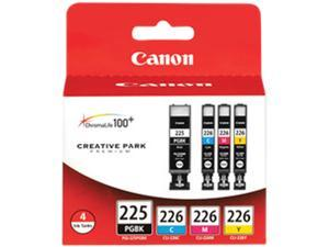 Canon PGI-225 black, CLI-226CMY 4-pack Ink Tank Value Pack&#59; Black, Cyan, Magenta, Yellow (4530B008AA)