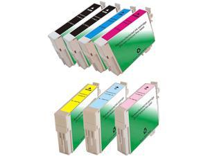 Green Project Compatible Ink Cartridge Replacement for Epson (2pc. Epson T0771 , 1pc. T0772 , 1pc. T0773 , 1pc. T0774 , 1pc. T0775 , 1pc. T0776) 7 Pack
