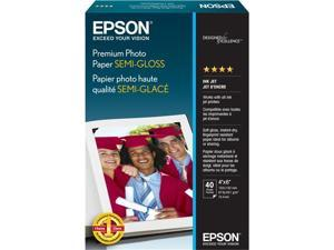 "Epson S041982 Photo Paper 4"" x 6"" - Semi-gloss - 40 Sheet"