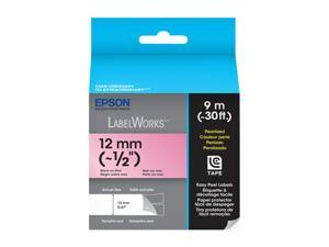 EPSON LabelWorks LC-4RBL9 Print/Pink Tape