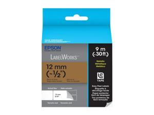 EPSON LabelWorks LC-4KBM9 Print/Gold Tape