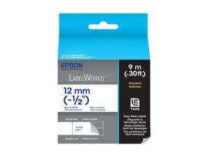 "EPSON LC-4WLN9 LabelWorks Standard LC Tape Cartridge ~1/2"" Blue on White"
