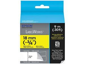 EPSON LabelWorks LC-5YBW9 Print/Yellow Tape