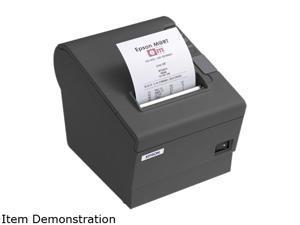 EPSON TM-T88R C31C636363 Direct Thermal 177 mm / sec 203 x 203 dpi ReStick Receipt Printer, Dark Gray