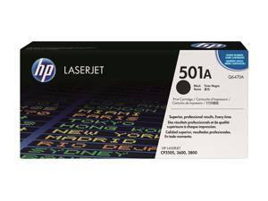 HP 501A Black LaserJet Toner Cartridge (Q6470A)