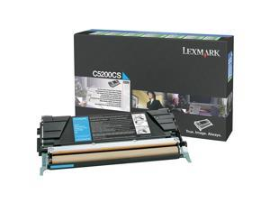Lexmark C5200CS Return Program Toner Cartridge - Cyan