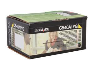 LEXMARK C540A1YG C540, C543, C544, X543, X544 Return Program Toner Cartridge Yellow