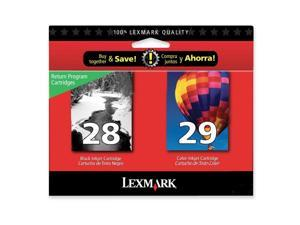 LEXMARK 18C1590 No.28/29 Black and Color Ink Cartridge Black / Color
