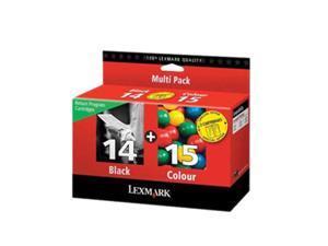 LEXMARK 18C2239 No. 14/ No. 15 Return Program Ink  Cartridge Black / Tri-Color