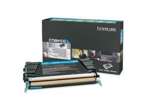 LEXMARK C736H1CG High Yield Return Program Toner Cartridge Cyan