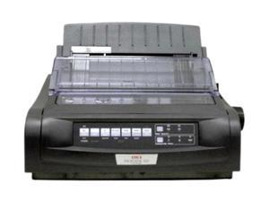 OKIDATA MICROLINE 420 Black (91909703) - Parallel&Serial, USB 9 pin 120V Up to 570cps 240 x 216 Dot Matrix Printer