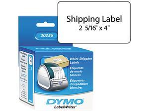 "DYMO 30256 2-5/16"" x 4"" Shipping Label, 300 / Roll - Rectangle - Direct Thermal - White,  1 Roll"