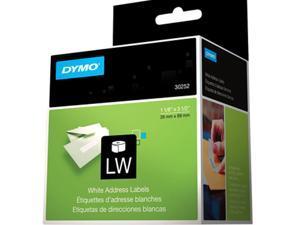 "Dymo 30252 Address Label 1.12"" Width x 3.50"" Length - 350/Roll - Paper - White"
