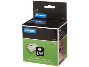DYMO 30253 2-UP LabelWriter Address Labels, 1-1/8 x 3-1/2, White, 700 Lbls/Roll, 1 Roll