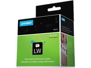 DYMO 30370 Multipurpose Labels, 2 x 2 5/16, White, 250/Box