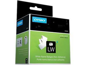 DYMO 30856 Name Badge Insert Labels, 2-7/16 x 4-3/16, White, 250/Box