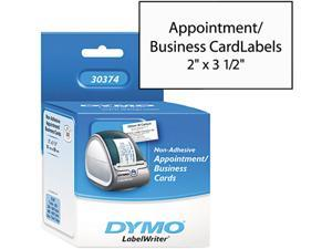 "Dymo 30374 Business Card A8 - 2"" x 3.50"" - 300 / Roll - White"