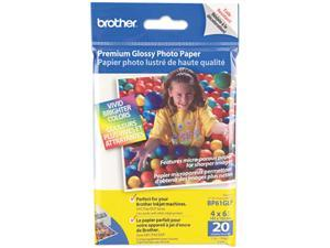 brother BP61GLP Innobella Premium Glossy Photo Paper, 51 lbs., 4 x 6, 20/Pack