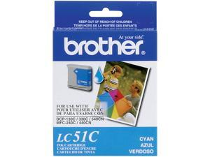 brother LC51C Print Cartridge For Brother DCP 130C/MFC-240C/MFC-665CW Cyan