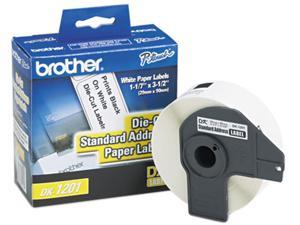 "Brother Die-Cut Address Labels 1.1"" x 3.5"" White 400/Roll"