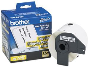 "Brother DK1202 Die-Cut Shipping Labels, 2.4"" x 3.9"", White, 300/Roll"